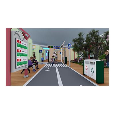模拟交通公交站台